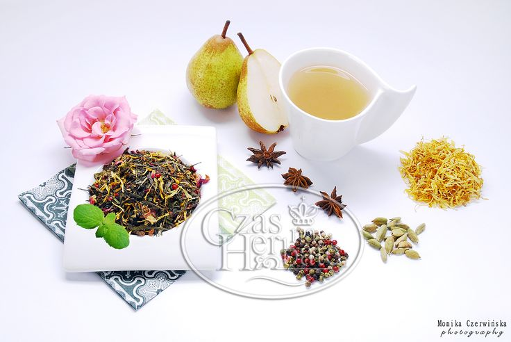 FLAVOUR'S EUPHORIA. Sencha green tea with a pear, cardamom, pepper, aniseed, marigold, rose petals and aroma.
