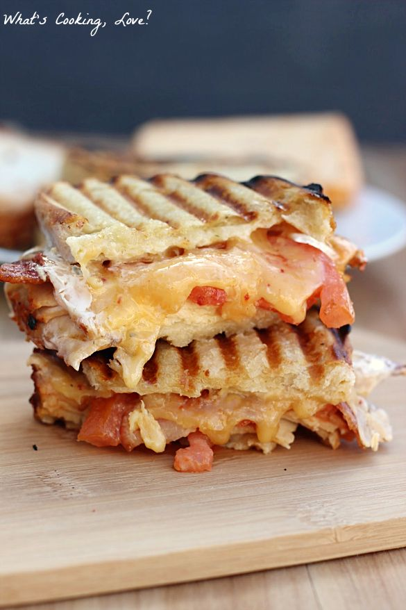 Chipotle Chicken Bacon Ranch Panini - Whats Cooking Love?