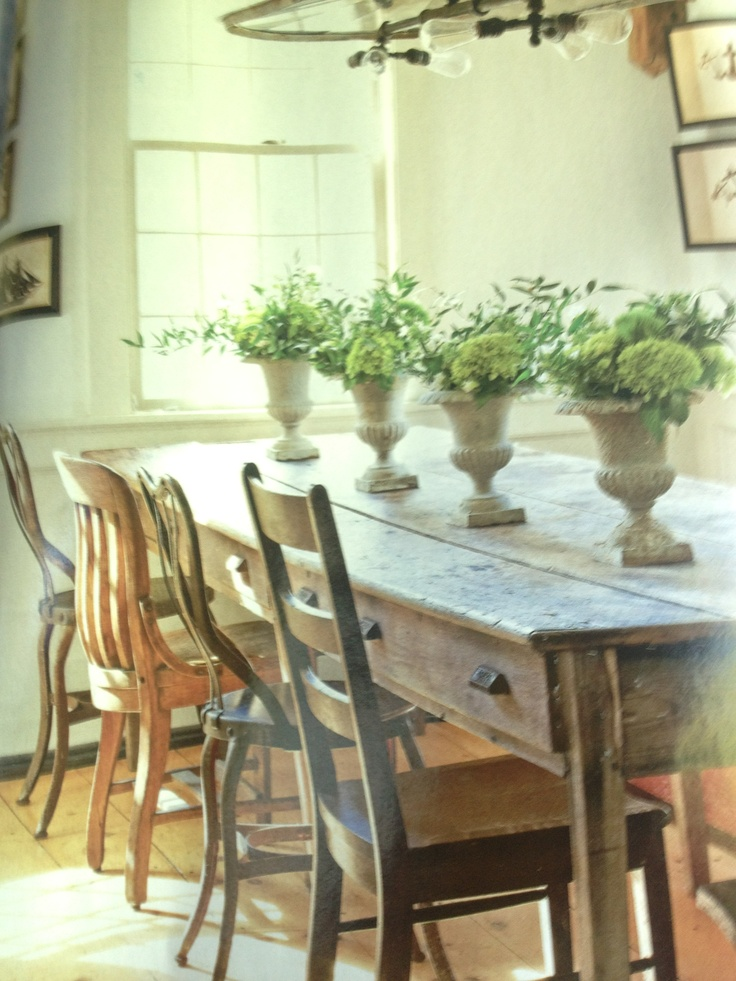 Mismatched chairs cute dining room pinterest for Cute dining room sets