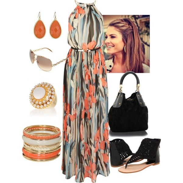 Orange/Black/White, created by manda3482 on Polyvore