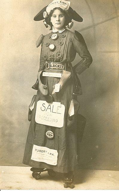 Woman as Walking Billboard  Ca. 1900