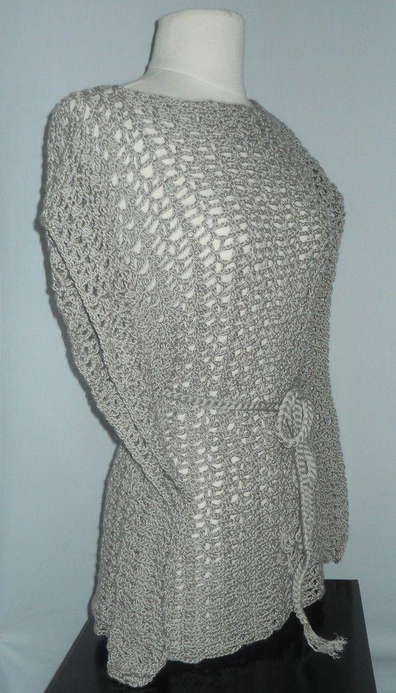 Crochet Patterns Plus Size : Crochet Lace Top - Crochet Kimono Pattern - Crochet Plus Size Clothin ...