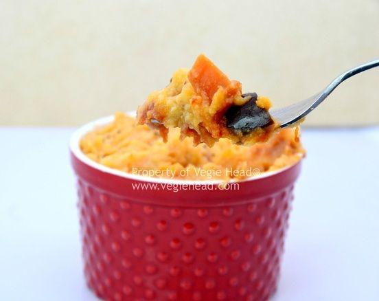 shepherds pie, vegan black bean sweet potato stew, UN- traditional ...