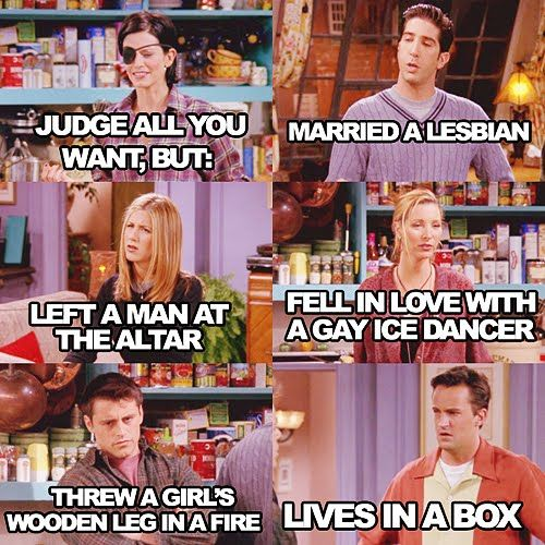 The one with chandler in a box. One of the BEST Friends episodes ever!