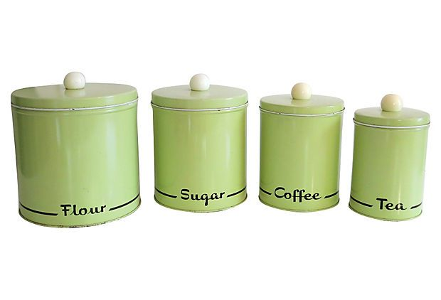 mad men era kitchen canister set