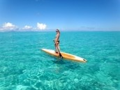 Stand up paddle boarding in Tahiti! Simply breath taking.