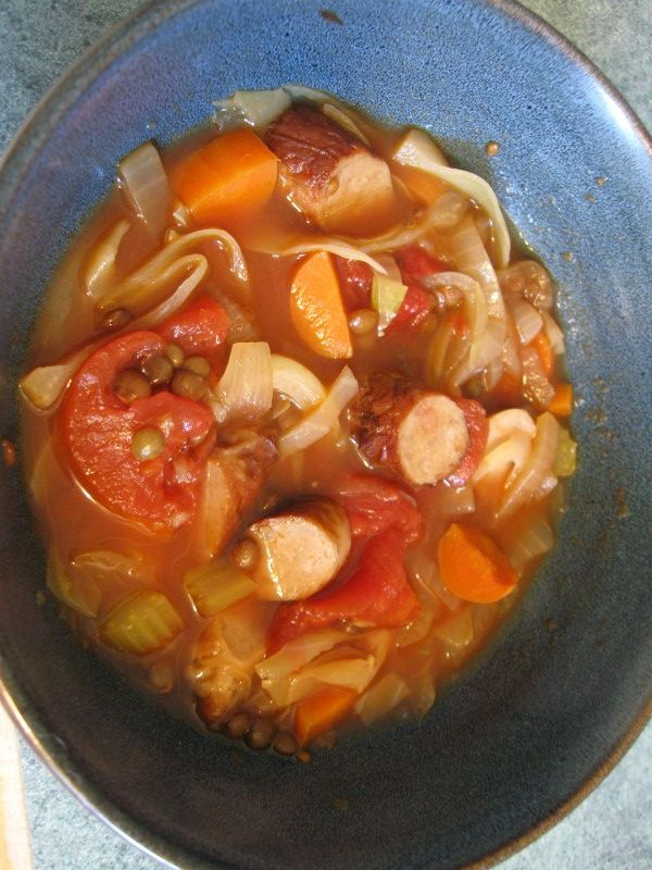 rustic sausage cabbage soup | Favorite Recipes | Pinterest