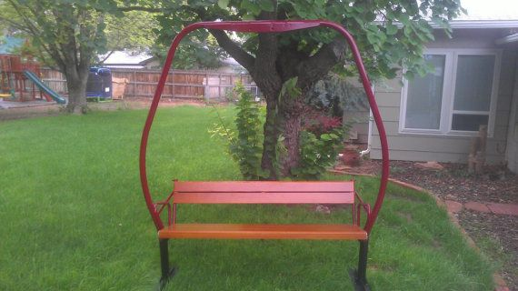 Vintage 1970 s crested butte triple ski chair lift bench a very nice