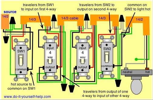 Switch And Light Wiring Diagram