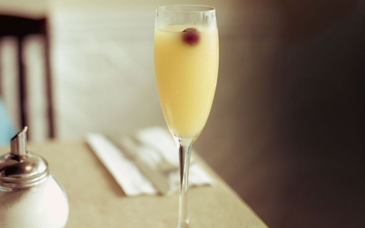 Virgin Peach Mimosas...add champagne for sure