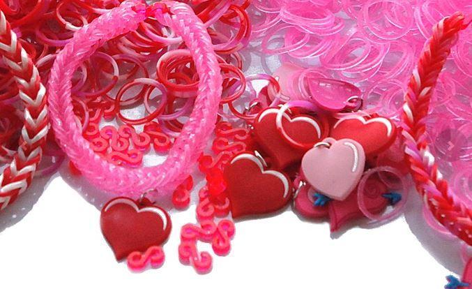 valentine's day loom band bundle