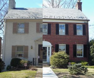 Before And After Painting Brick Home Sweet Home Ideas Pinterest