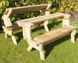 Picnic Table That Folds Into Benches Wood Projects Pinterest