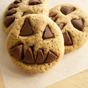 Chocolate Peanut Butter Jack-O-Lantern Cookies Recipes — Dishmaps