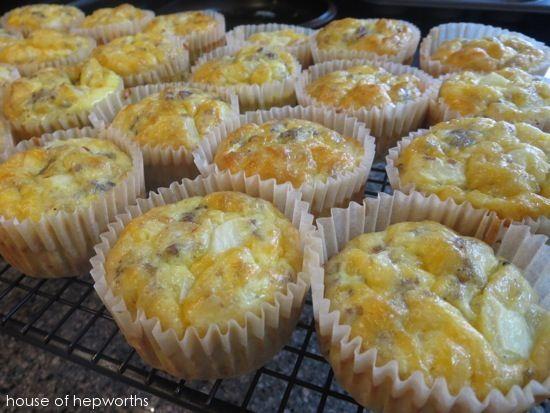 Scrambled Egg Muffins | Om Nom Nommy | Pinterest
