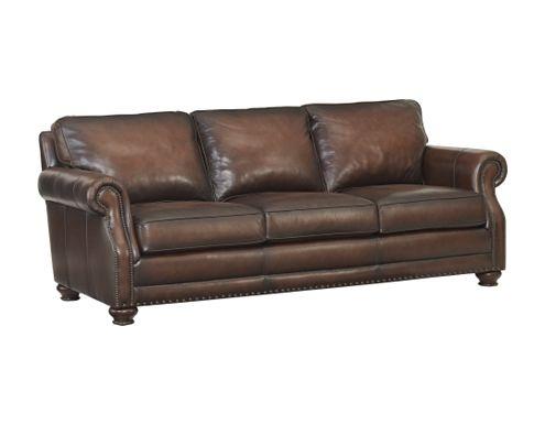 Havertys Leather Sofa