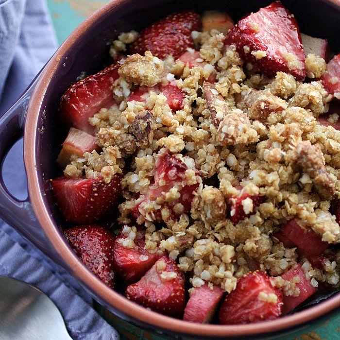 Strawberry Rhubarb Crisp Recipe — Dishmaps