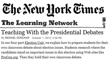 The New York Times referenced 2012 Election ProCon.org as part of a ...