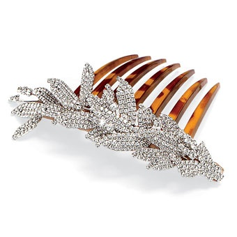 Tortoise comb with crystals, 725, Jennifer Behr