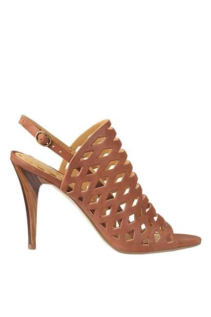 Patent Blue Pink-Strapped Heels - Spring Shoes for Women 2013 - ELLE