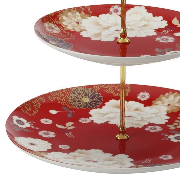 Maxwell and Williams Kimono 3 Tier Cake Stand