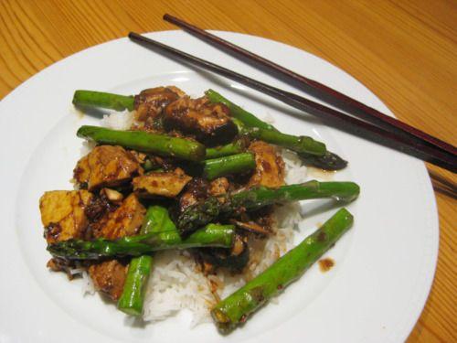 Asparagus Shiitake Tofu Stir-Fry - naturally gluten free and vegan