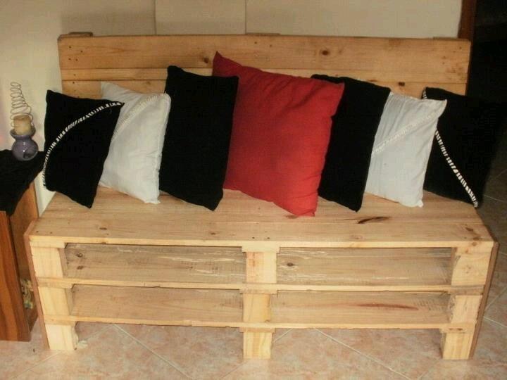 Mueble con paletas de madera  Paletas de madera  Pinterest