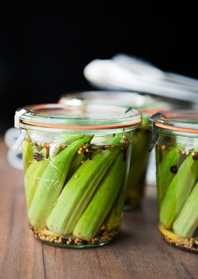 pickled okra recipe | use real butter | things to dehydrate & Preserv ...
