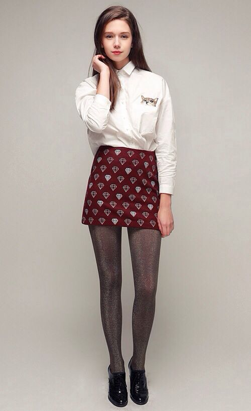 Maroon skirt outfit | Outfits | Pinterest