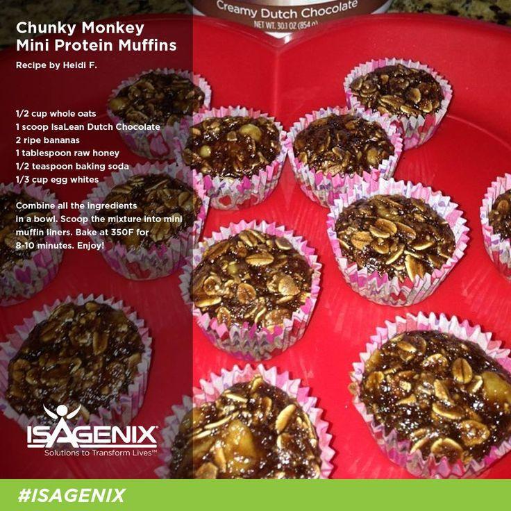 Chunky Monkey Mini Protein Muffins
