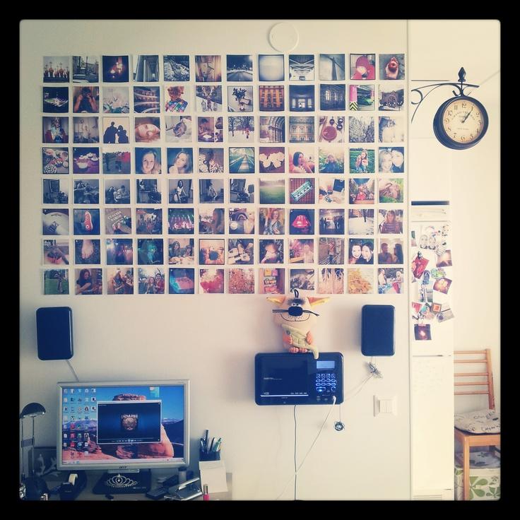 Instagram photo wall decor home sweet home pinterest