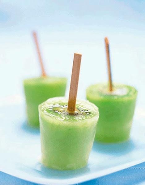 Kiwi Ice Pops | St. Paddy's Shenanigans | Pinterest