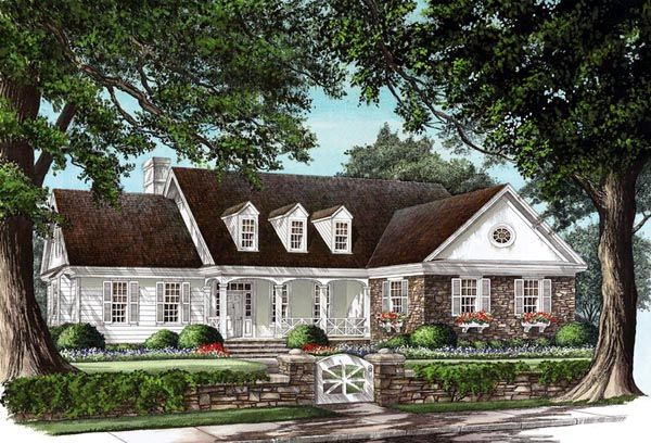 Cottage Country Farmhouse Traditional House Plan 86160