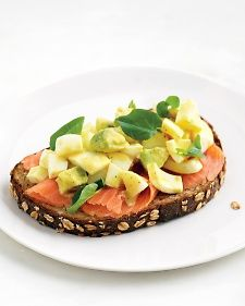 ... Easter Breakfast Egg Salad with smoked salmon on sprouted-grain toast