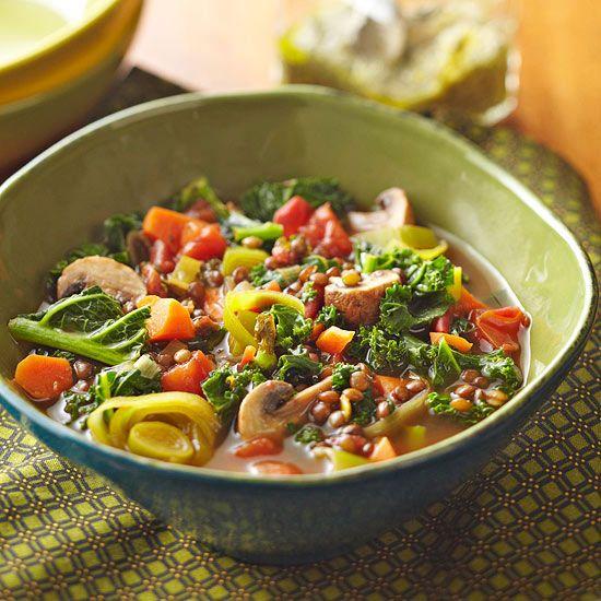 French Lentil, Leek & Mushroom Soup   Soup   Pinterest