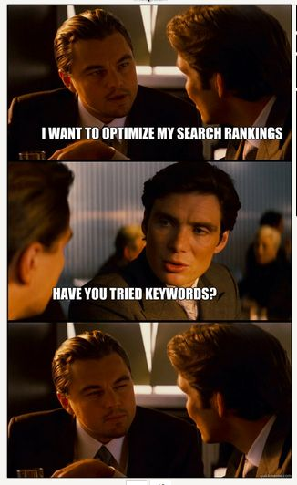 Search marketing and keywords- they confused Leo!