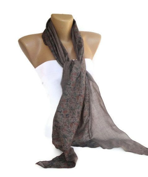 taupe brown women scarf  fashion accessory  long   womens FASH  Brown Scarves For Women