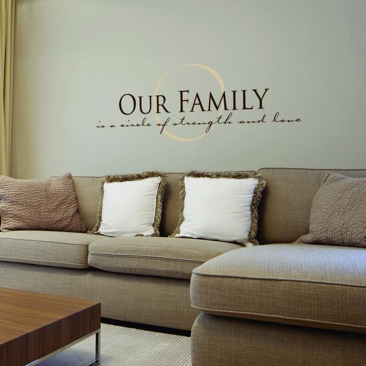 Family family family wall words fonts pinterest for Living room quotes for wall