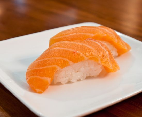 Sake (Salmon) Nigiri | Sushi | Pinterest