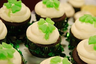 Stout cupcake w/ Bailey's Irish Cream buttercream frosting