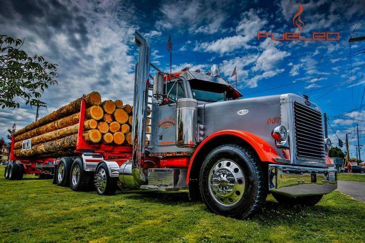 Peterbilt log truck | Logging | Pinterest