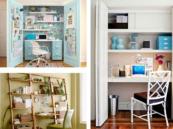 Small workspace ideas furnish burnish new house pinterest - Diy closets for small spaces model ...