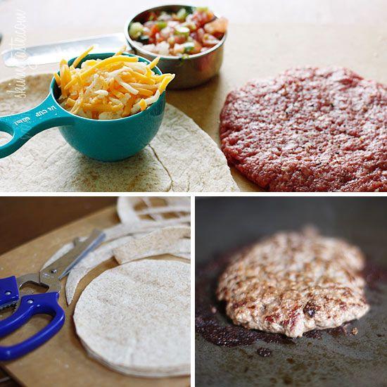 Skinny Buffalo Burger Quesadilla | Recipe
