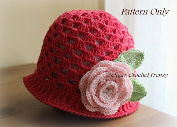 Crochet Hat Pattern For 6 Year Old : Girls Summer Hat Crochet Pattern, Size 3-5 Years Old ...