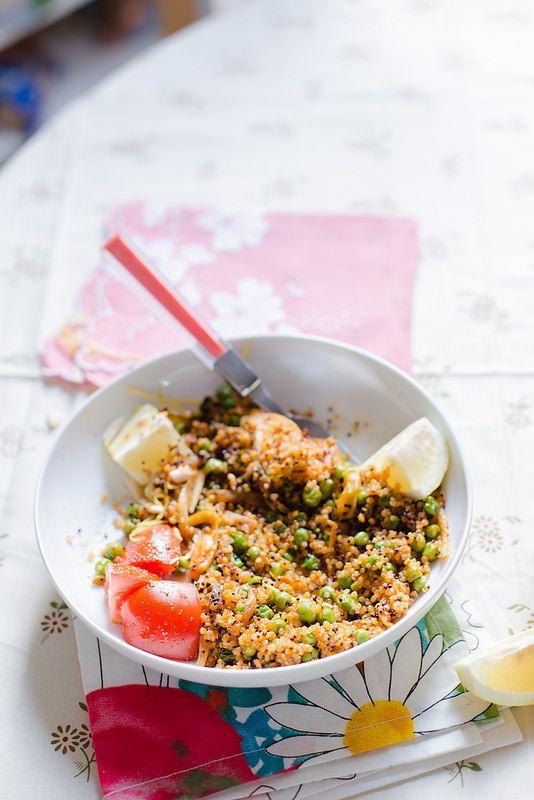 Quinoa, Peas and Sriracha Roasted Fennel | Elsa Brobbe