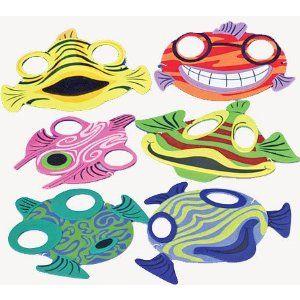 Fish mask template gift bag fish mask