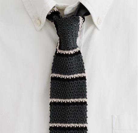 Mens Tie Knitting Pattern : Knit tie