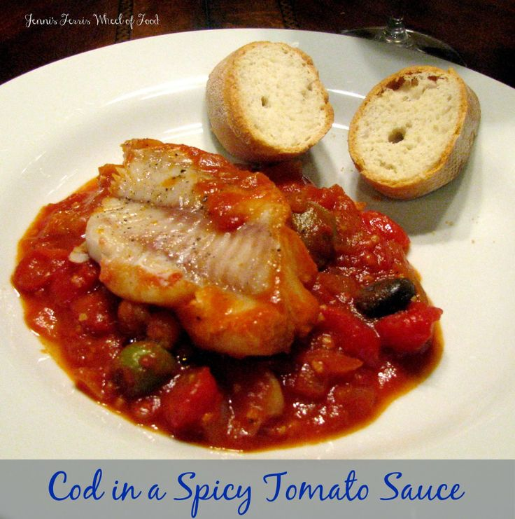 Cod Baked In A Tomato And Feta Sauce Recipes — Dishmaps