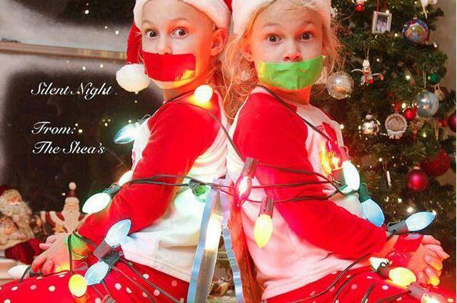 """Silent Night"" Christmas card"