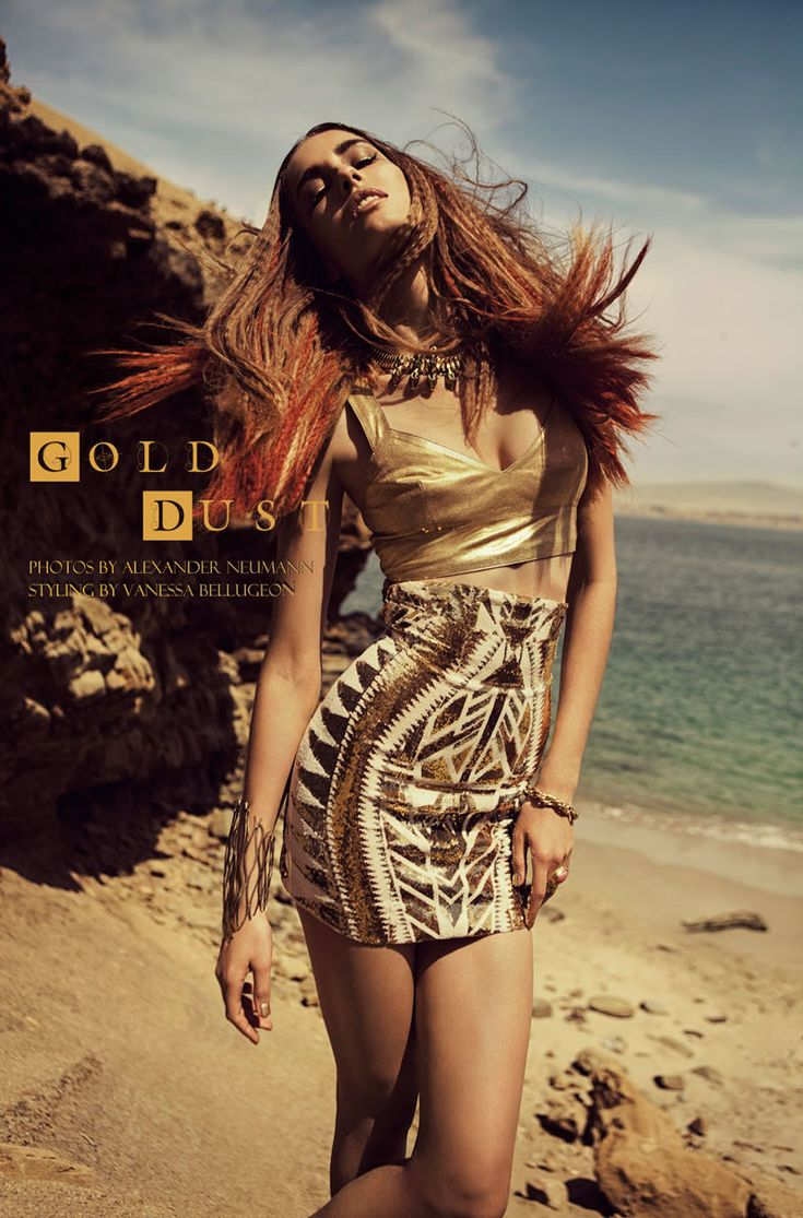Nadja Bender by Alexander Neumann in Gold Dust for Fashion Gone Rogue